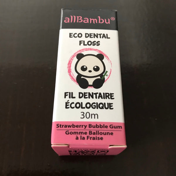 buy plant based eco strawberry bubble gum dental floss in canada