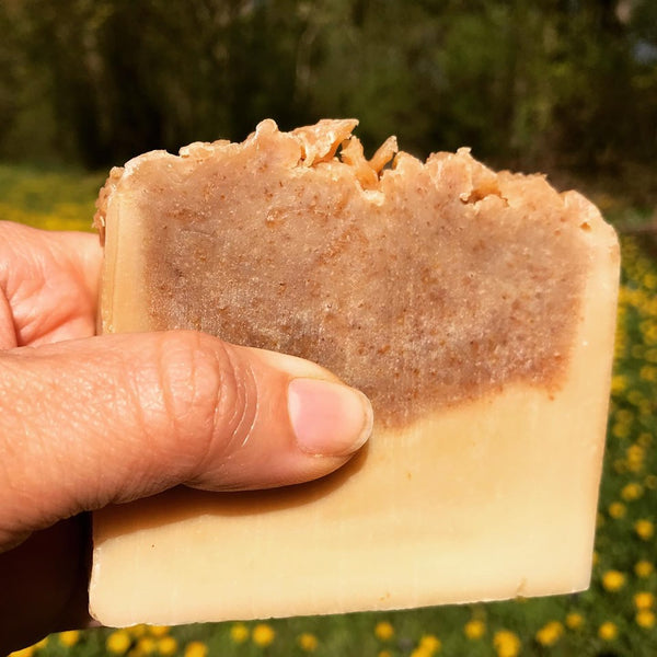 handcrafted artisan soap made with organic dandelions