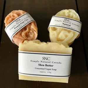 naturally unscented vegan soap made in canada in small batches