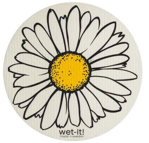 daisy round wet it swedish dishcloth