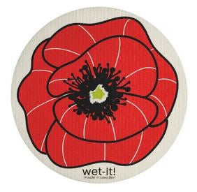 poppy round wet it swedish dishcloth