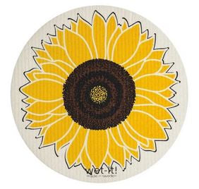 sunflower round wet it swedish dishcloth