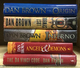 Lot 5 Dan Brown Hardcover Book Complete Robert Langdon /Da Vinci Code/Origin...