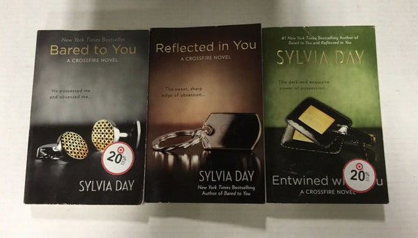 Crossfire Series Sylvia Day Book Lot #1-3 Bared to You FREE SHIPPING