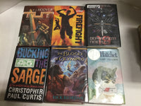 Lot of 10 Young Adult BOY books. Random. Unsorted. Former library
