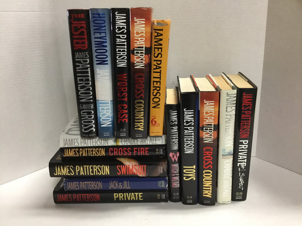 Lot of James Patterson Hardcover Books- Random-Free Shipping