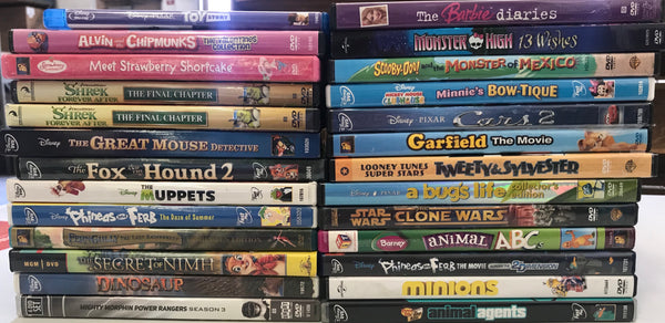 Kids DVD Lot of 10 Movies- Mixed