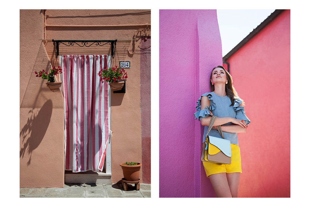 Isla Fontaine lookbook spring summer 2018 burano venice jewelry bags