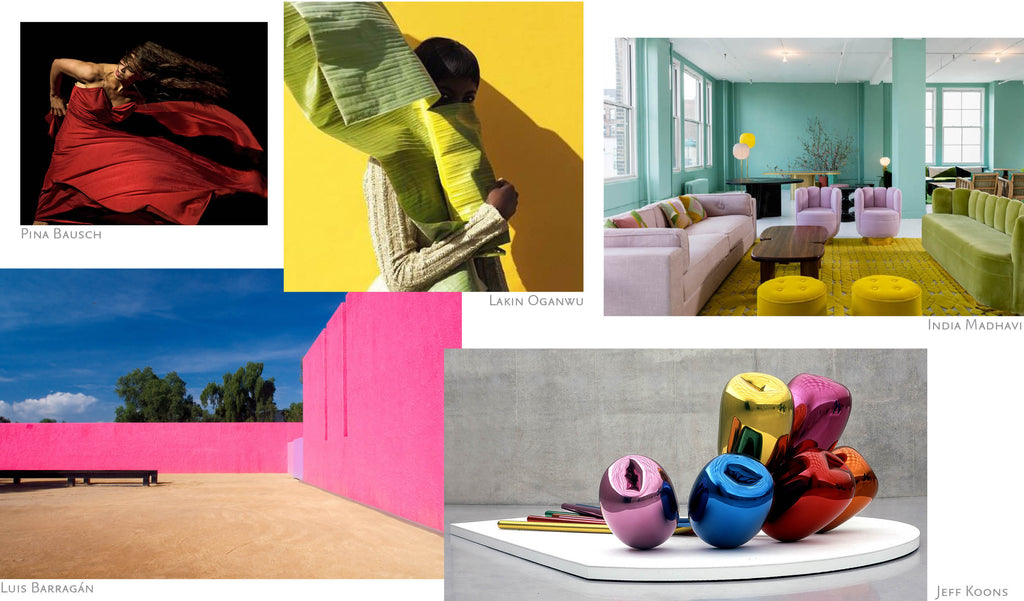 Isla Fontaine inspiration moodboard designer brand art colors DNA