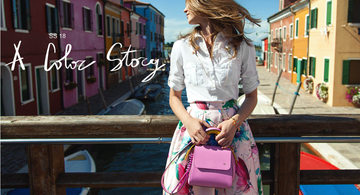 Isla Fontaine colorful bags jewelry handbag collection