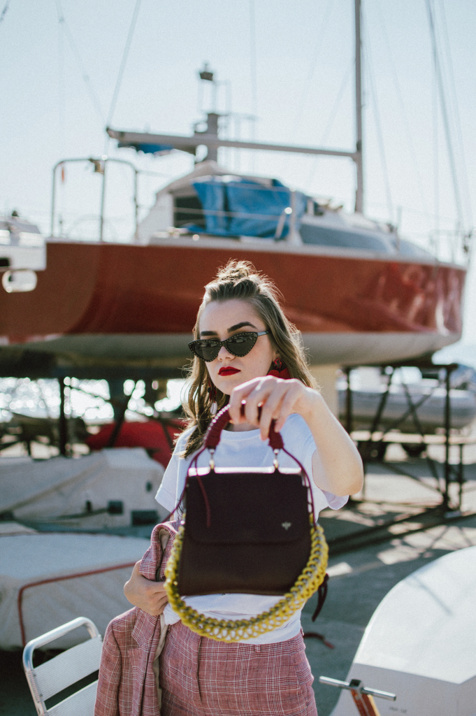 Andreea Birsan with Isla Fontaine Lady bag