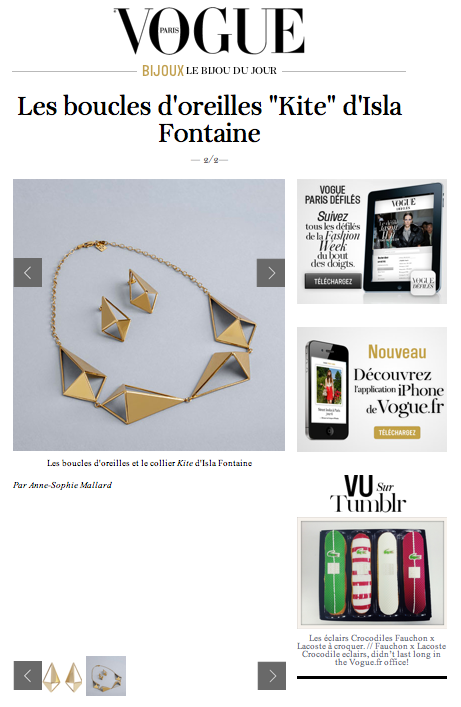 Isla Fontaine on Vogue.fr