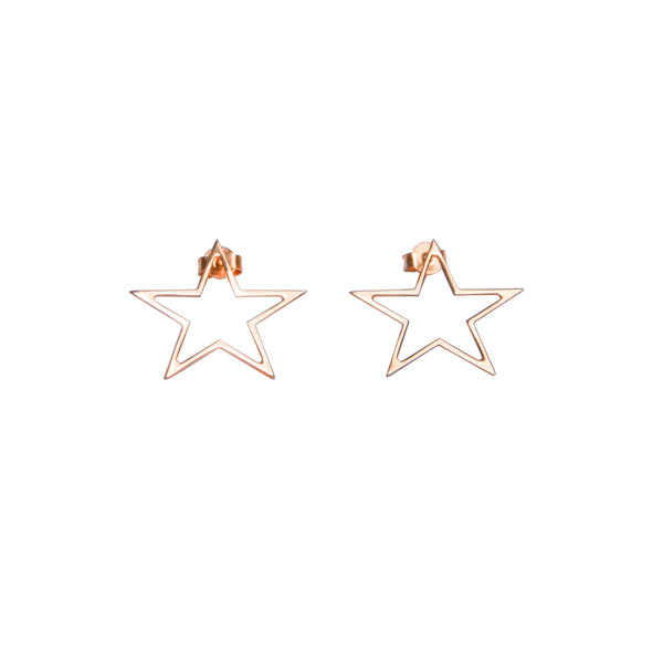 Star gold stud earrings