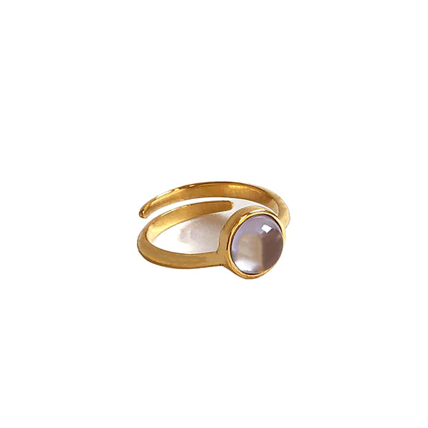 Lavender stone gold ring