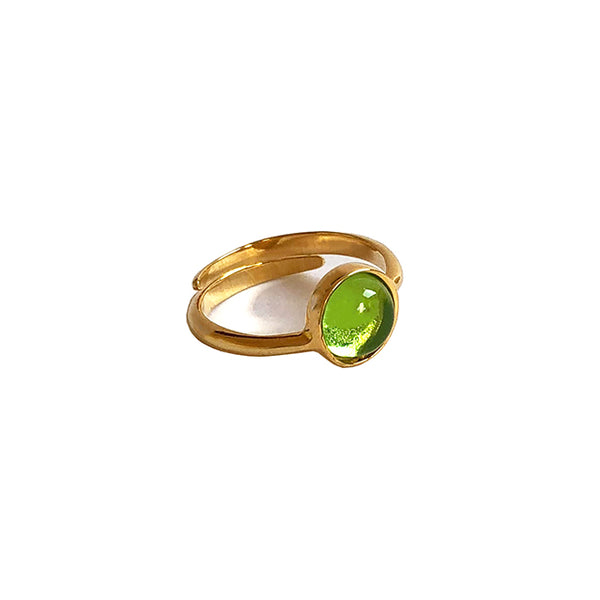 Lime stone gold ring