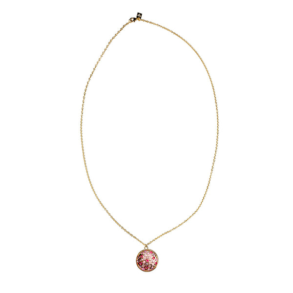 Stone gold long necklace