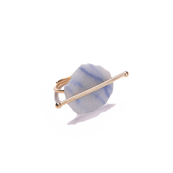 Marble gold ring