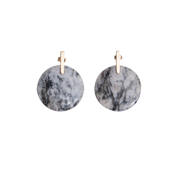 Marble gold earrings