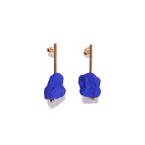 Blue Klein earrings