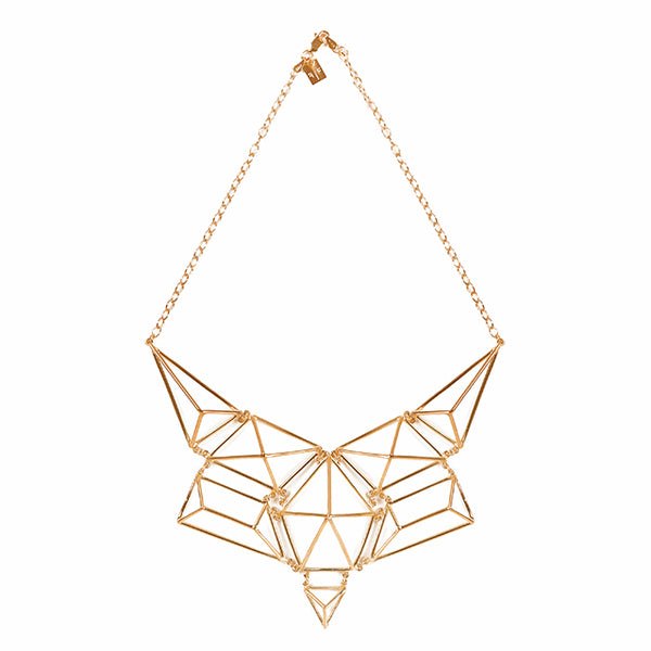Sculptural gold necklace