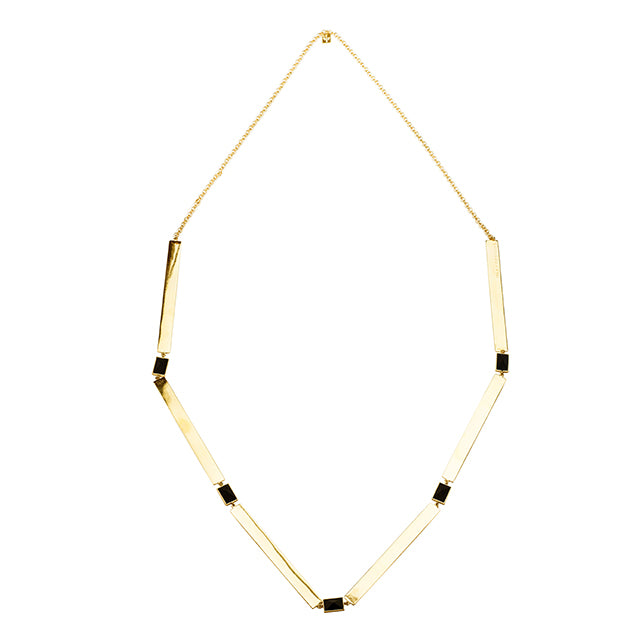 Stone gold necklace