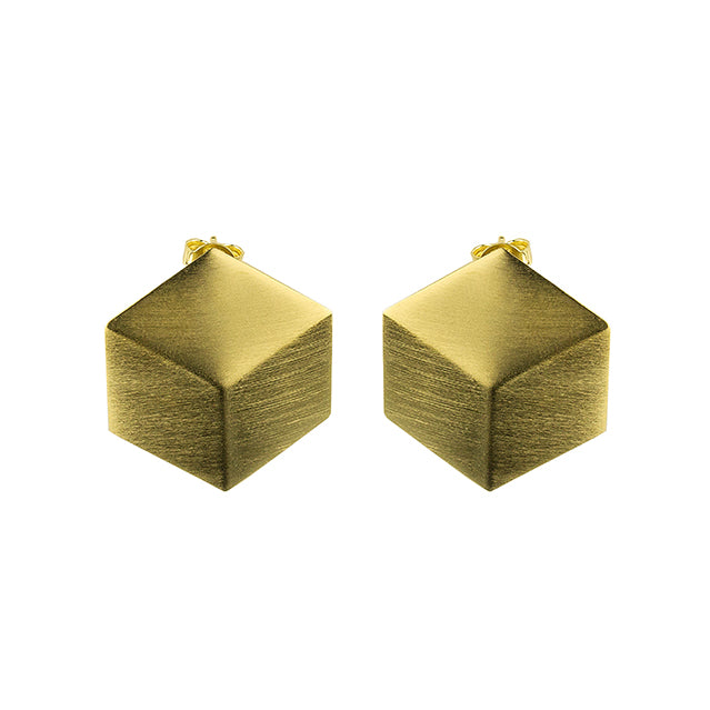 Sculptural gold earrings