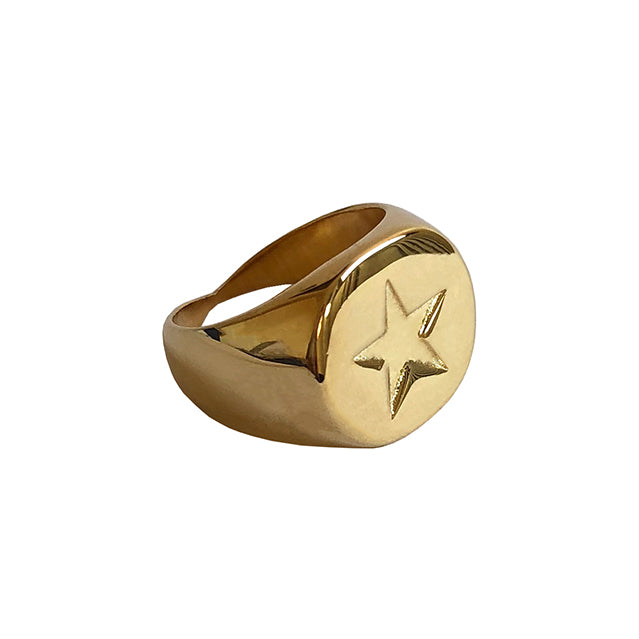 star signet gold ring