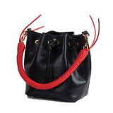Isla Fontaine black bucket bag