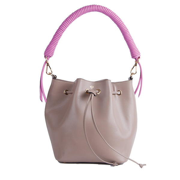 Isla Fontaine taupe bucket bag