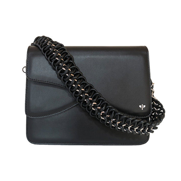 Isla Fontaine black shoulder bag