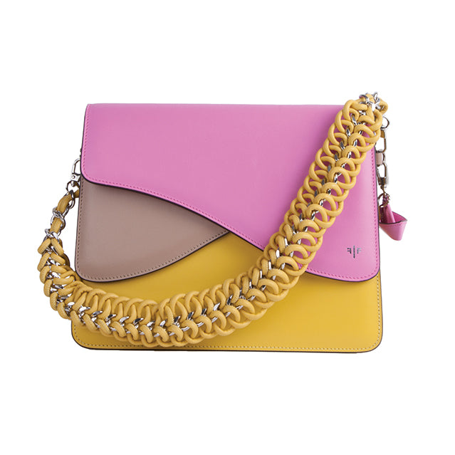 Isla Fontaine pink shoulder bag