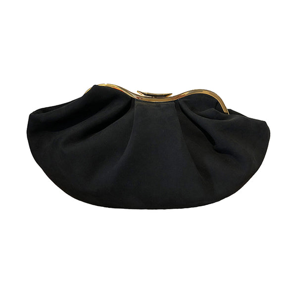 Sandolo Bag, Black suede