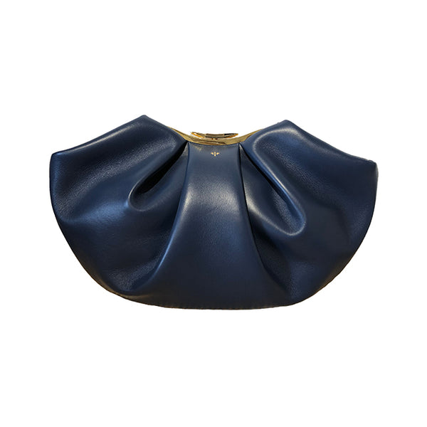 Blue clutch bag