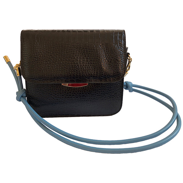 Tango Bag, Croc-effect Black