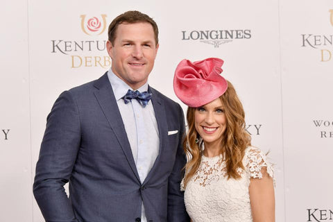 From First Downs to Churchill Downs: Former Dallas Cowboys tight end Jason Witten and his wife, Michelle, at the 2018 Derby. (Photo by Michael Loccisano/Getty Images for Churchill Downs)