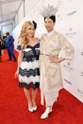 Derby Dazzlers: Tara Lipinski and Johnny Weir light up the red carpet at Churchill Downs.
