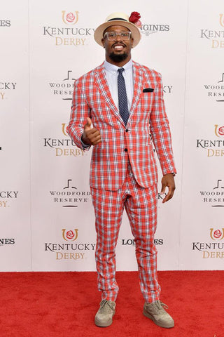 Plaid Man: Super Bowl MVP checks out the 2018 Kentucky Derby.