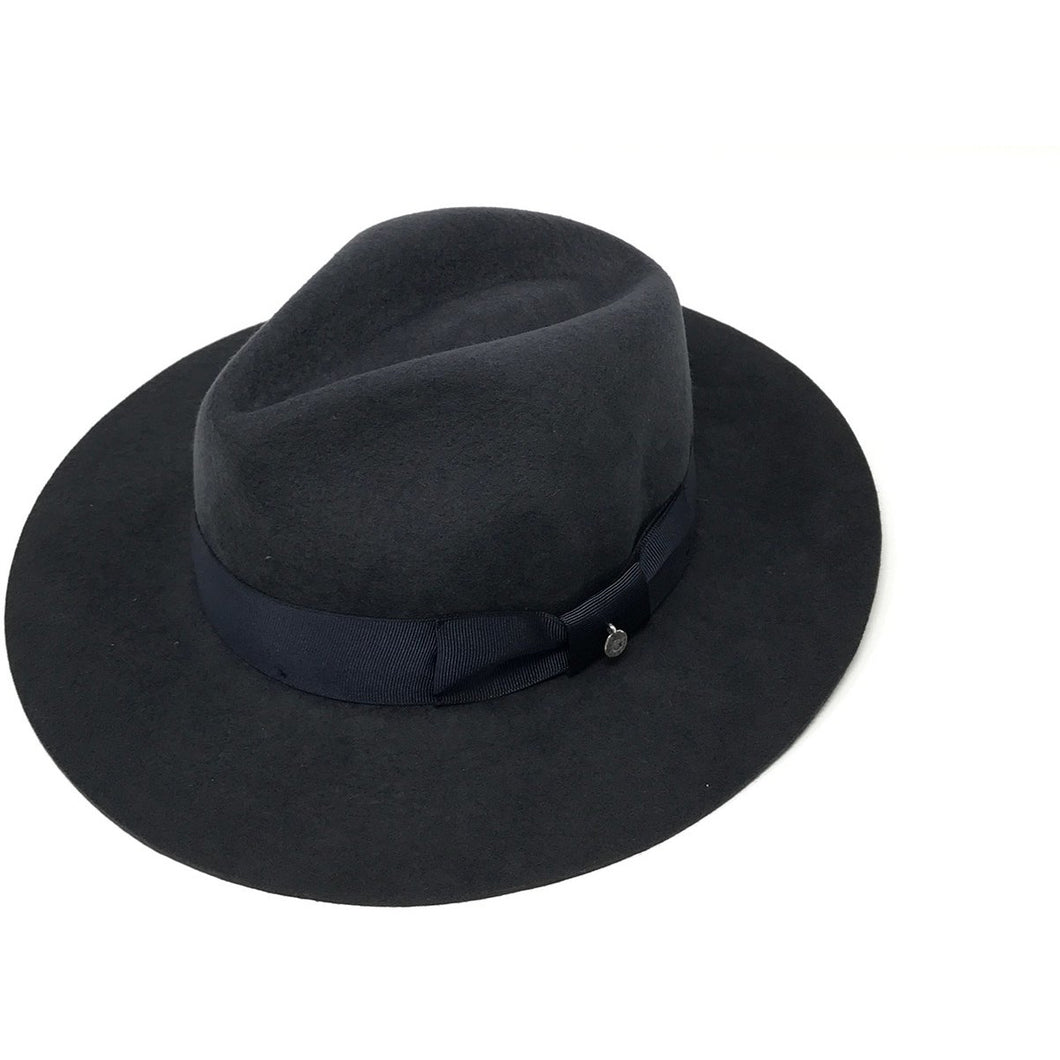Sauvage Charcoal Grey Alpaca Wool Classic Fedora Winter Hat