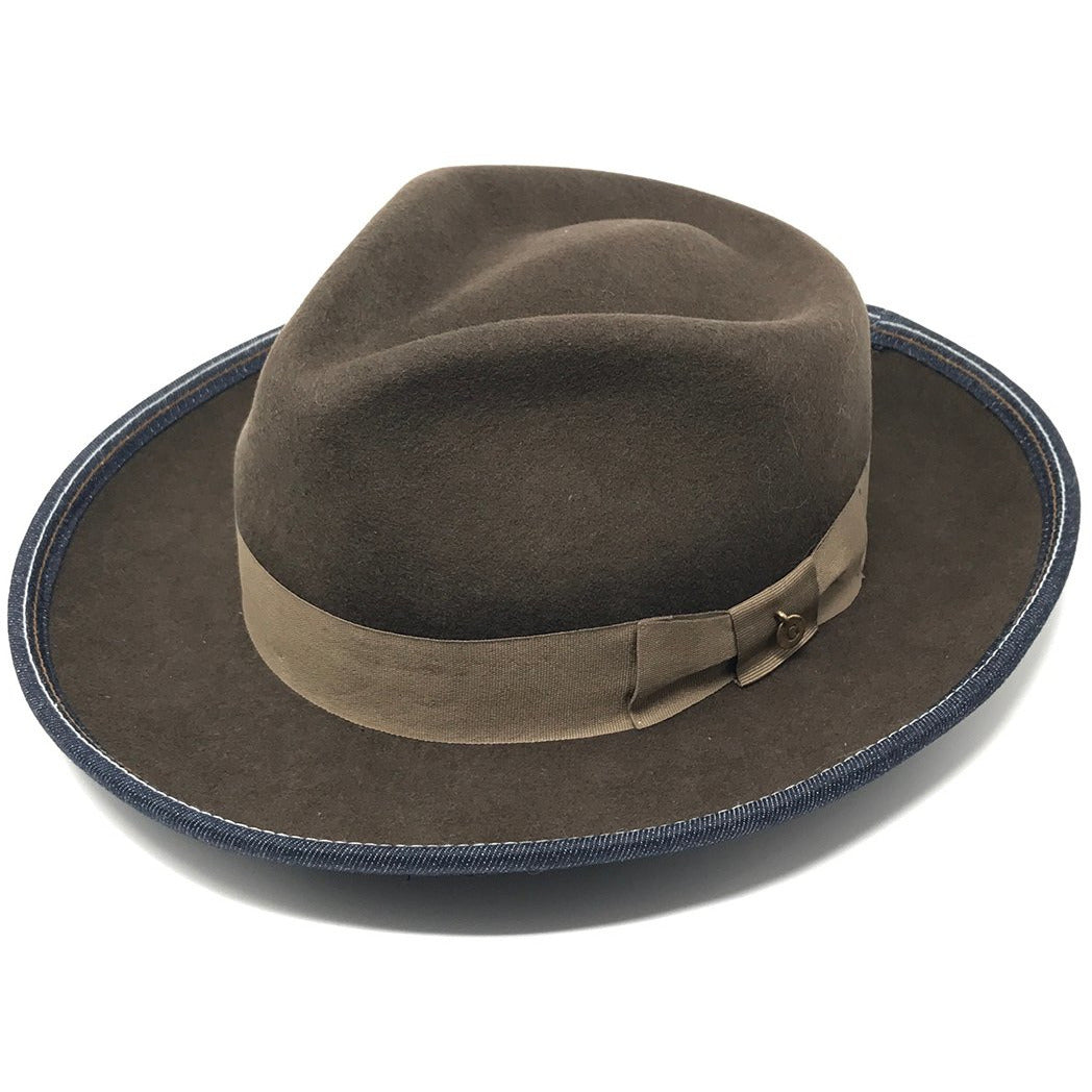 Diamante Foderato Alpaca Wool, Wide-Brim Fedora Hat