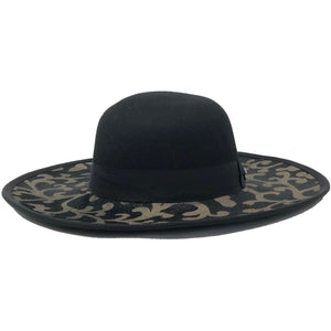 DESIGNER HAT WIDE BRIM BLACK FRONT