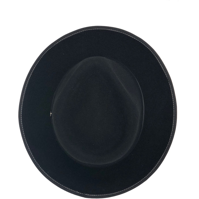 DIAMANTE PETITERO FEDORA WOOL HAT