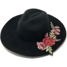 HAT FOR WOMEN BLACK FLOWER
