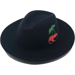 PALTA PACHA NAVY WOOL FEDORA WINTER HAT