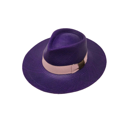 Sauvage Violet Genuine Panama Hat