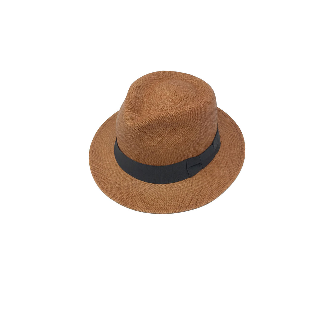 Plenero Short Brick Brim Genuine Panama Hat