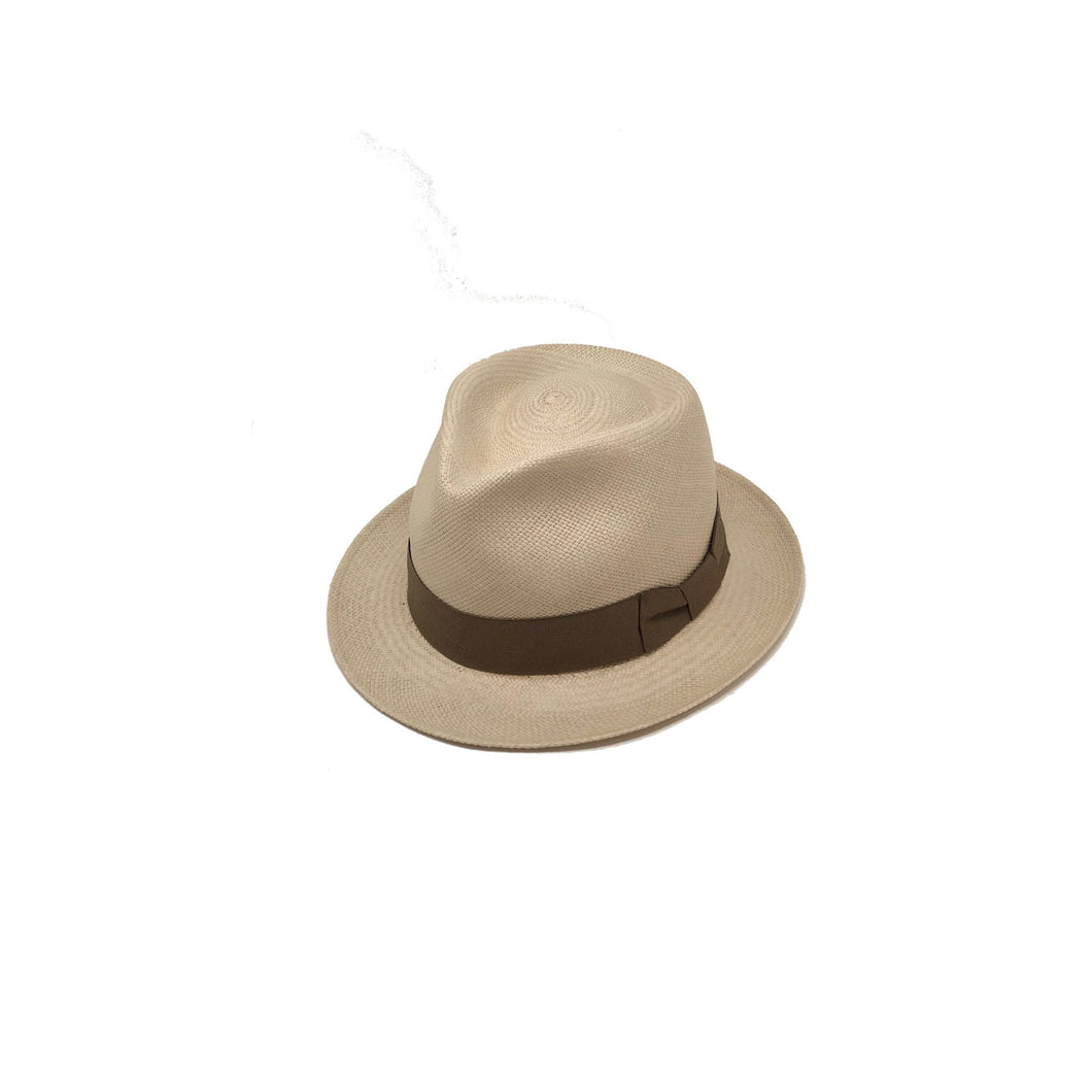 Plenero Short Brim Sand Genuine Panama Hat