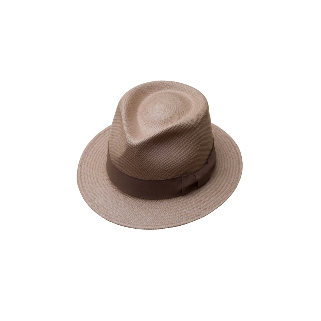 Plenero Short Brim Granite Genuine Panama Hat