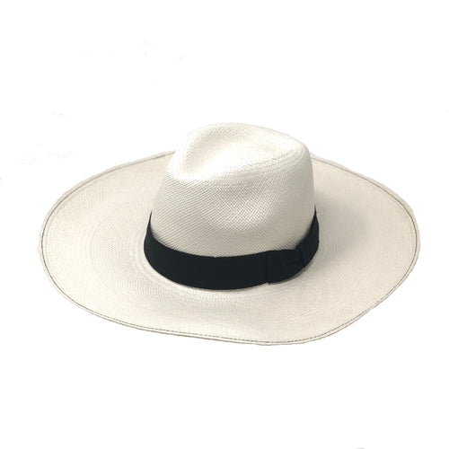 Vasto Blanco Large Brim Natural Genuine Panama Hat