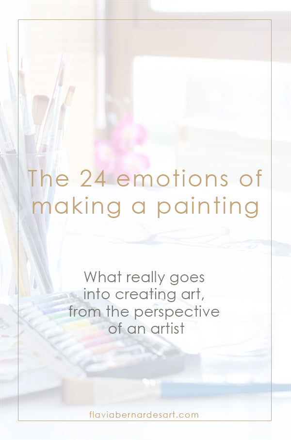 24 emotions of making a painting