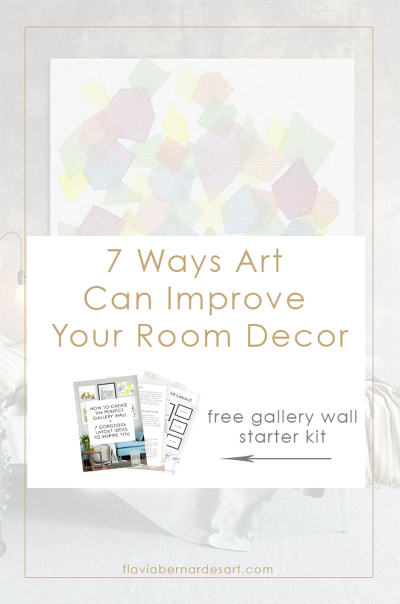 7 Ways Art Can Improve Your Room Decor - Flavia Bernardes Art
